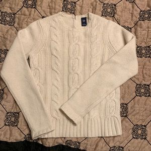 Gap Ivory Cable Sweater
